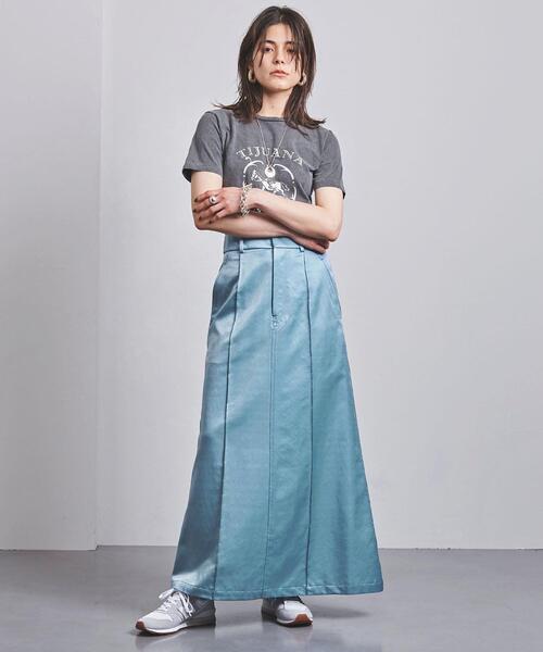 <CINOH(チノ)>サテン スカート