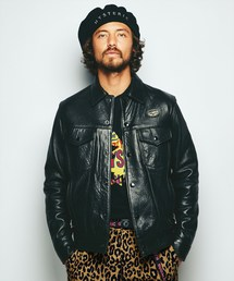 Lewis Leathers×HYSTERIC Western ジャケットブラック