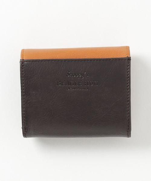 PEANUTS /スヌーピー BEAGLE HUG 革製 二つ折れ財布