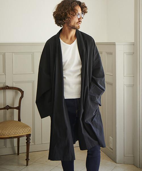 mj5724 - Cotton Loose Gown Shirts Jacket ガウンシャツジャケット