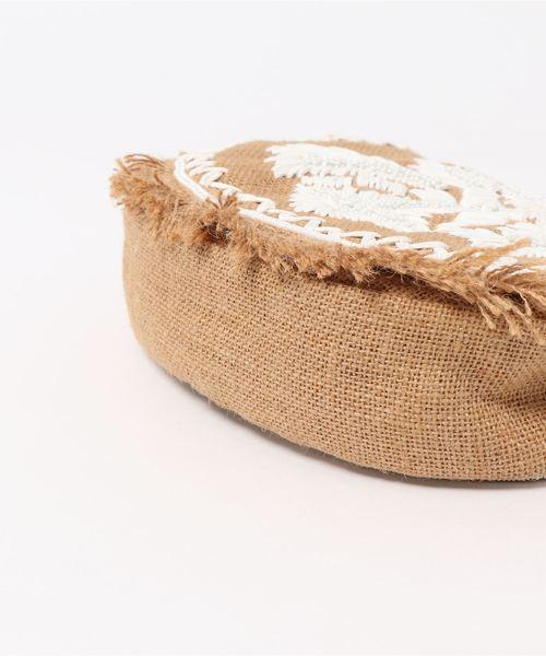(SALUJA)刺繍ビーズショルダーバッグ