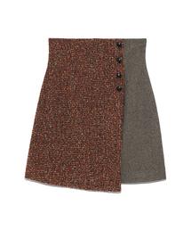 Lily Brown(リリーブラウン)のツイードチェック台形スカート(スカート)