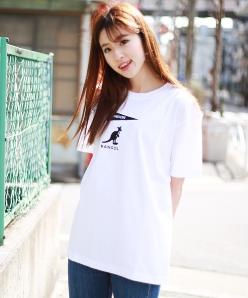 KANGOL(カンゴール)の「【KANGOL】 別注 半袖プリントTシャツ(Tシャツ/カットソー)」|ホワイト系その他2