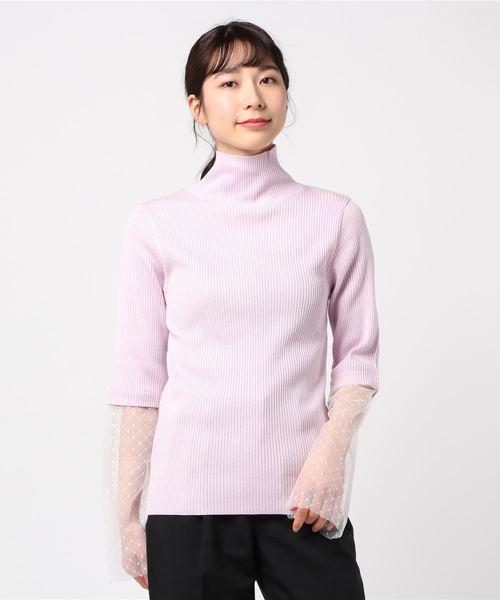 CHERIE(シェリー)の「CHERIE H/N TOPS (C0796)(ニット/セーター)」 ピンク