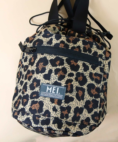 【 MEI / メイ 】EXCLUSIVE LEOPARD DRAW BAG エクスクルシーブ レオパード ドローバッグ 巾着バッグ ショルダーバッグ