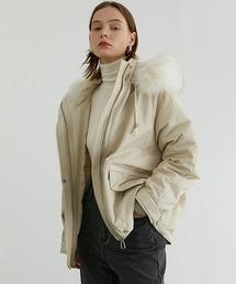 【Fano Studios】【2021AW】Faux fur High neck hooded down jacket FD20Y033オフホワイト