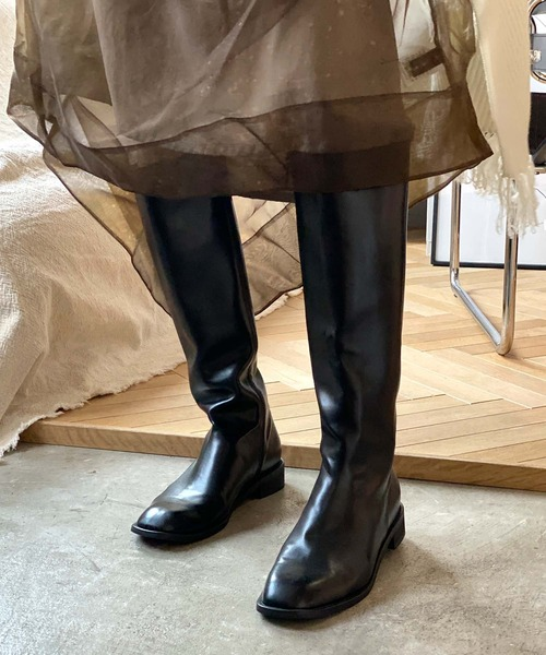 【chuclla】【2021/AW】BASIC long boots chs21a003