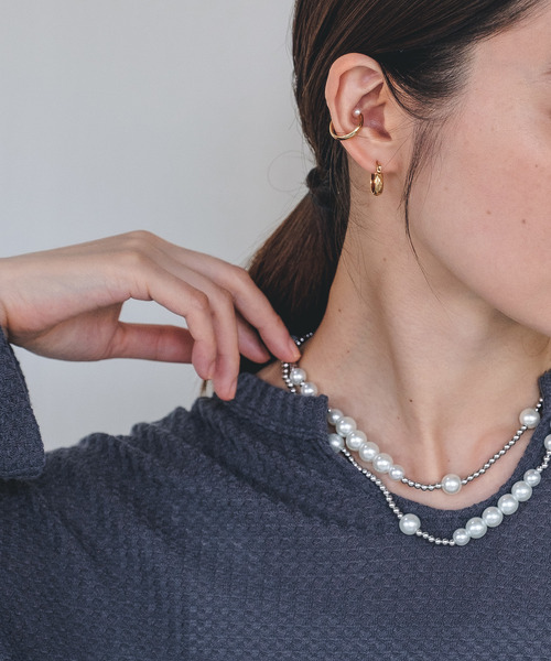 【chuclla】Pearl chain necklace cha21a003