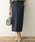 F by ROSSO(エフバイロッソ)の「F by ROSSO バックサテンベイカースカート(スカート)」|ネイビー