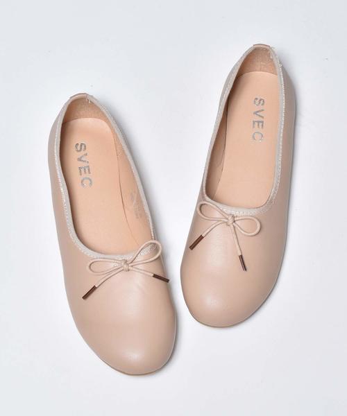 SVEC(シュベック)の「甲深フラットシューズ , 甲深バレエシューズ SVEC / シュベック Ballet Shoes , Flat Pumps(バレエシューズ)」 ベージュ