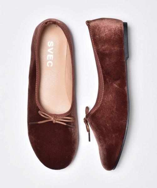 SVEC(シュベック)の「甲深フラットシューズ , 甲深バレエシューズ SVEC / シュベック Ballet Shoes , Flat Pumps(バレエシューズ)」|ブラウン系その他