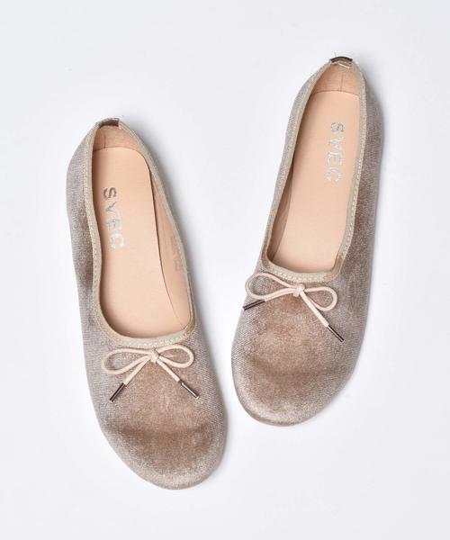 SVEC(シュベック)の「甲深フラットシューズ , 甲深バレエシューズ SVEC / シュベック Ballet Shoes , Flat Pumps(バレエシューズ)」|ベージュ系その他