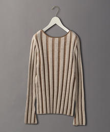 <6(ROKU)>STRIPE LONG SLEEVE KNIT/ニット