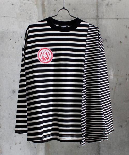 【爆売りセール開催中!】 MYne マイン// border docking border L L/S/S T-shirts ボーダードッキングロングスリーブTシャツ/ G04LT171(Tシャツ/カットソー) MYne(マイン)のファッション通販, 宮村:dae19bf5 --- skoda-tmn.ru