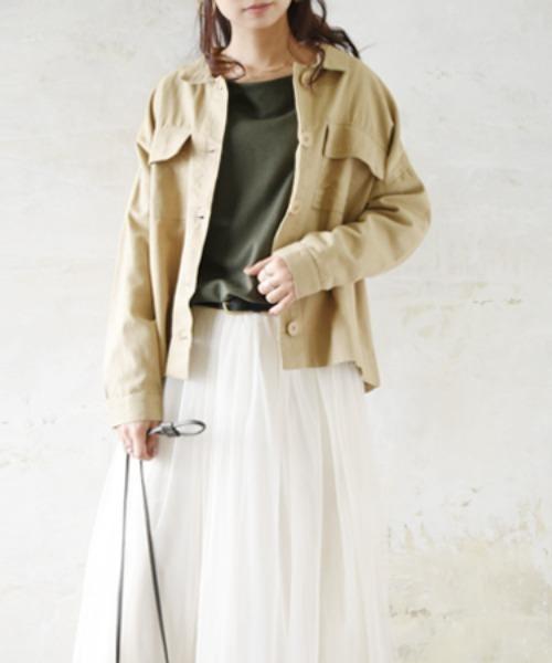 and it_(アンドイット)の「キャンバスウォッシュミリタリーシャツジャケット(ミリタリージャケット)」|ベージュ