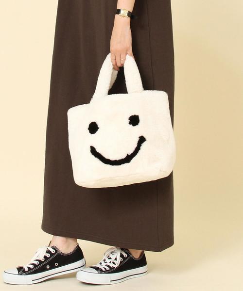 【WEB限定】ポーチ付きSMILEYトートバッグ