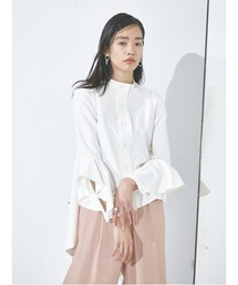 バックロングテールシャツホワイト