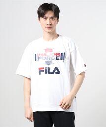 【 FILA / フィラ】 FILA / フィラ × MAJORFORCE S/S T-shirts メジャーフォース Tシャツ FS0102・・ 半袖Tシャツホワイト