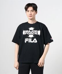 【 FILA / フィラ】 FILA / フィラ × MAJORFORCE S/S T-shirts メジャーフォース Tシャツ FS0102・・ 半袖Tシャツブラック