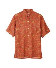 HYSTERIC SPADE柄 ボタンダウンシャツオレンジ