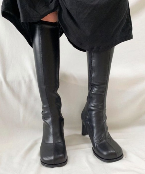 【chuclla】【2021/AW】Round block-toe long boots chs21a004