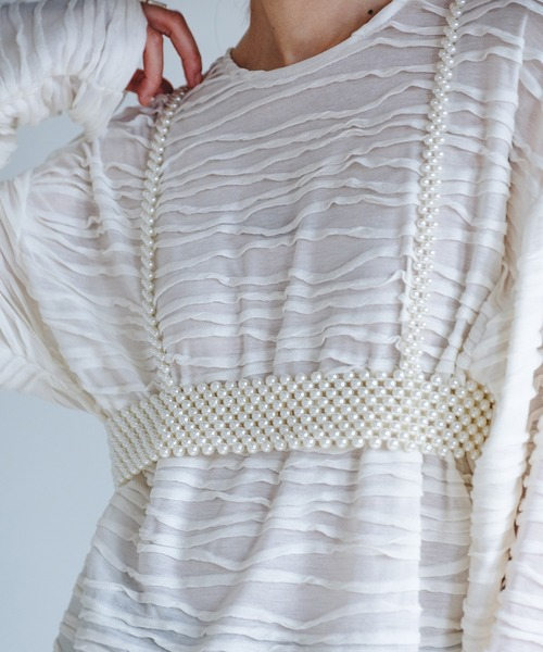 【chuclla】Pearl harness belt cha21a004