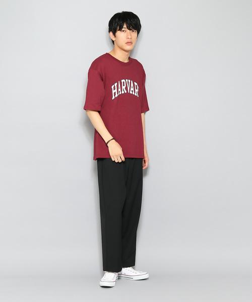 HARVARD ロゴTシャツ(5分袖)