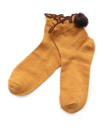 Ampersand(アンパサンド)のファーボンボンソックス(ソックス/靴下)