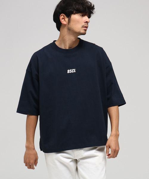 WEB限定 胸ロゴ刺繍 スーパービッグシルエット Tシャツ【BSCL】