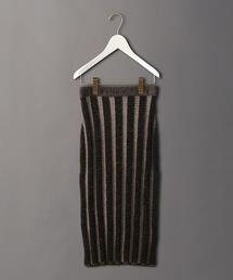 <6(ROKU)>STRIPE LONG TIGHT SKIRT/スカート