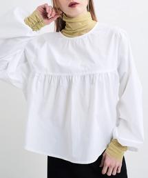 UNE MANSION(ユヌマンション)のシースルーカフスシャーリングハイネックインナーカットソー(Tシャツ/カットソー)
