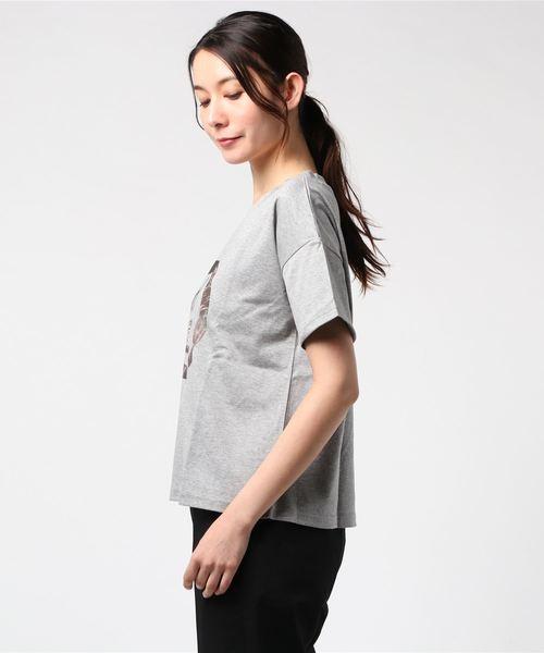 【Audrey and John Wad】ショート丈プリントTシャツ