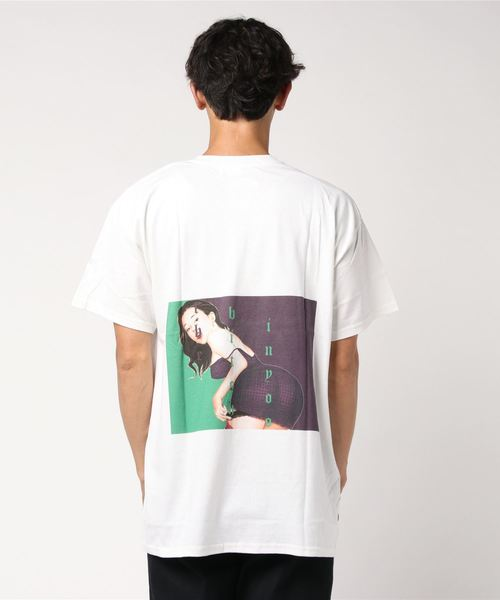 Lonely Hearts(ロンリーハーツ)の「LONELY(論理)/ロンリー/SHOUWA BITCH T-Shirts(Tシャツ/カットソー)」|ホワイト