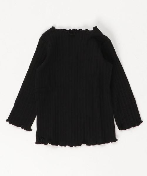 branshes(ブランシェス)の「テレコ長袖Tシャツ(Tシャツ/カットソー)」 ブラック