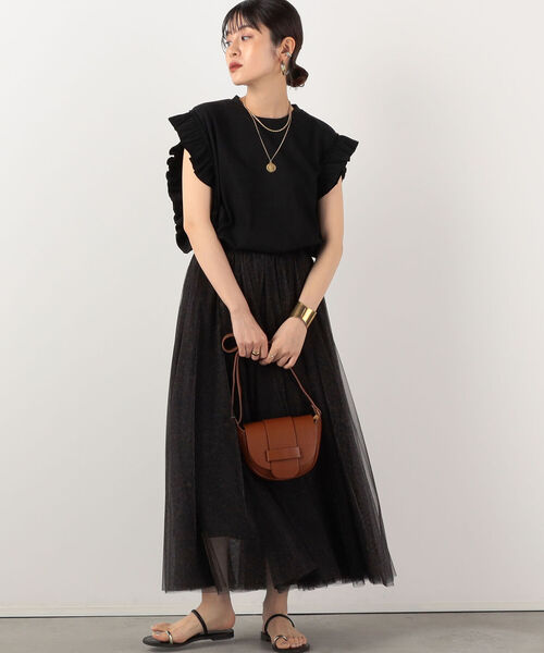 [NOLLEY'S] ◇【WEB限定】レオパードチュールスカート