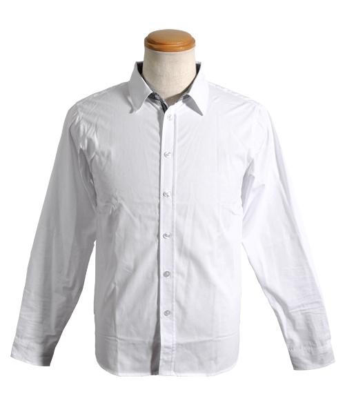 ラインテープブロード長袖シャツ