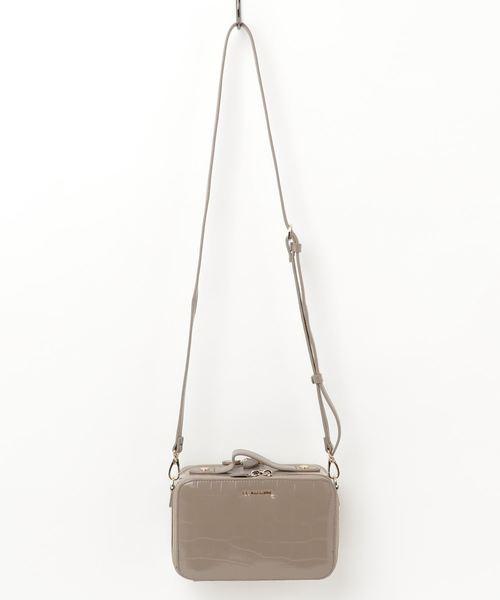 【国内発送】 型押しクロコ ボックスお財布ショルダー, ヤカゲチョウ d655d848