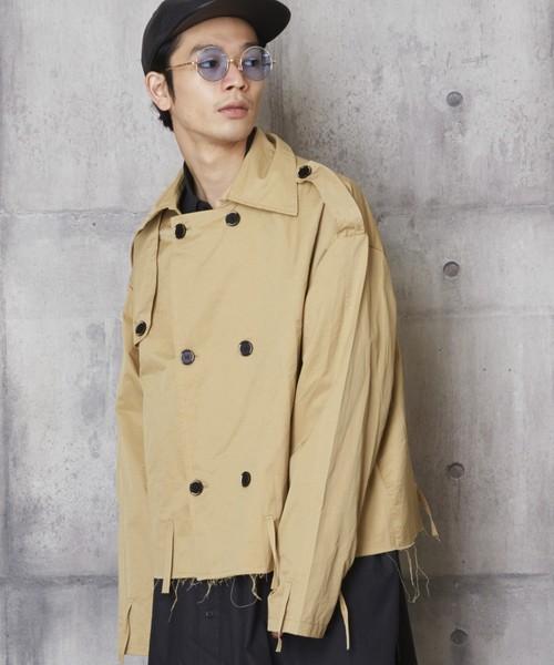 最初の  【セール】切りっぱなしショートトレンチジャケット(トレンチコート) unrelaxing(アンリラクシング)のファッション通販, ザッカバーグ:14357b04 --- hundeteamschule-shop.de