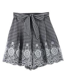 裾刺繍入りキュロット(パンツ)
