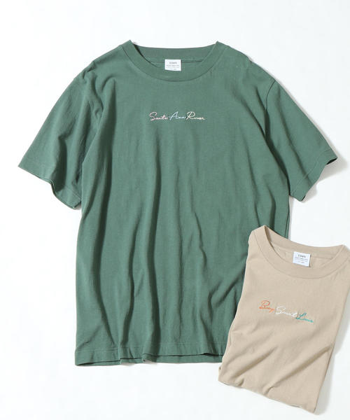 フロントカラー刺繍Tシャツ