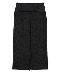 Lily Brown(リリーブラウン)のフラワー刺繍タイトロングスカート(スカート)