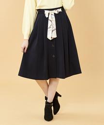 PATTERN・fiona (パターンフィオナ)のスカーフ付き前ボタンスカート(スカート)