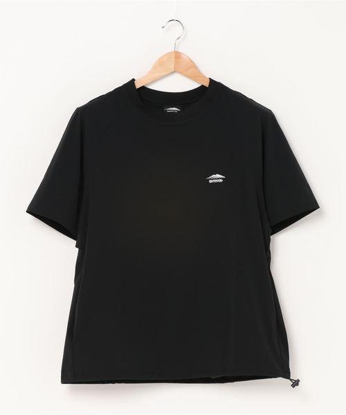 ストレッチTシャツ 4wayストレッチ素材 ラグランスリーブ ドローコード
