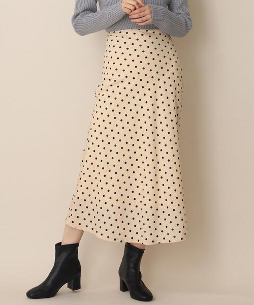 one after another NICE CLAUP(ワンアフターアナザーナイスクラップ)の「後ろレースアップマーメイドスカート(スカート)」 ドット