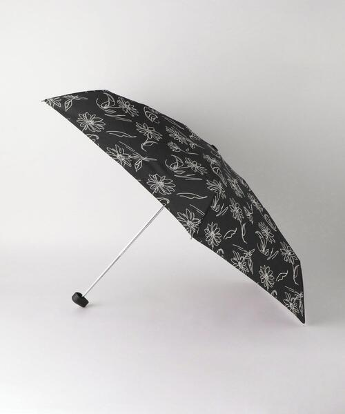 <because(ビコーズ)>ラインフラワー 折りたたみ傘