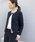 PICCIN(ピッチン)の「【WEB限定】綾織りツイードノーカラージャケット(スーツジャケット)」|ネイビー