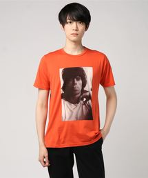 THE ROLLING STONES/KEITH 1968 LONDON pt Tシャツオレンジ
