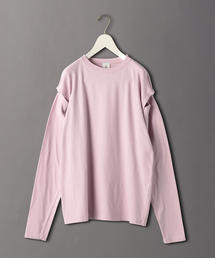<6(ROKU)>DOT BUTTON SLEEVE PULLOVER/カットソー