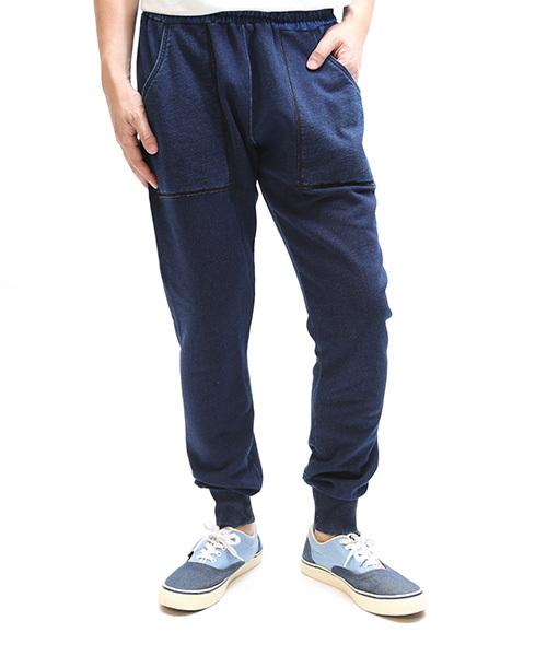 【雑誌Men'sJOKER 6月号掲載商品】INDIGO FRENCH TERRY LONG PANTS