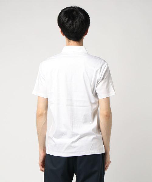 BLUE TORNADO(ブルートルネード)の「BLUE TORNADO∴シルケットスムース半袖Zipポロシャツ(Tシャツ/カットソー)」|詳細画像